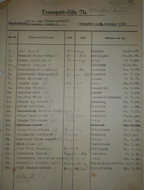 Liste der Kinder, die nach Uchtspringe verlegt wurden (ARW VA 136)