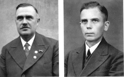 Oberpfleger Friedrich Grützmacher (li.) und Betriebszellenobmann August Bredemeyer gehörten der NSDAP an. (ARM 1204)